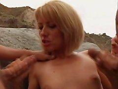Naomi French MILF threesome & DP