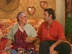 Sex eager granny eats his prick