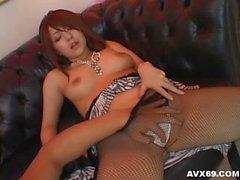 Nanami Takase shows her yummy nipples