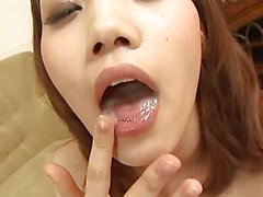 japanese girl gives blowjob with nipples clothpins