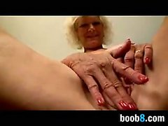 Busty Grandma Masturbating