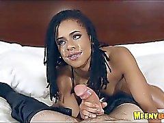 Pretty Black Amateur Blowjob And Sex Kira Noir