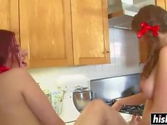 Two kinky lesbians pleasure each other