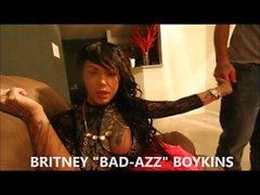 Tattooed Shemale Britney Boykins Sexy Striptease Video (NEW 2015)