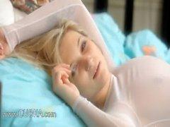 Blonde princess enjoying hole teasing