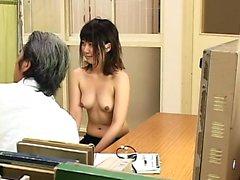 Japanese hottie hairy pussy toyed