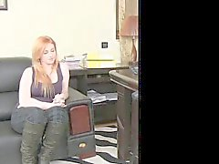 FemaleAgent - Busty plump redhead tries anal