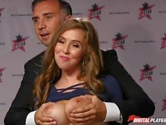 DP Star 3 - Büyük Doğal Tit Pornstar Lena Paul Derin Boğaz Blowjob