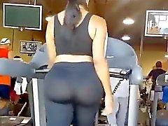 Grande asino sul Treadmill