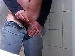 Transman peeing in shower