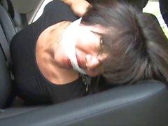 milf bound in car