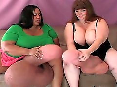 Unusual sweeties drill the biggest belt cocks and spray crea