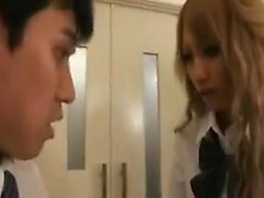 Delightful Japanese mistress gets her hot holes devoured by
