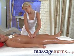 Massage Rooms Horny girls with small tits get fucked and fingered so well