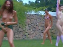 german chicks watersports in the garden