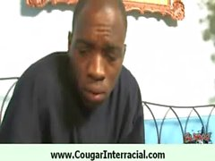 Sexy cougar wet pussy fucked by black 11