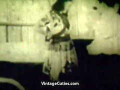 Frau in einem Sombrero gefickt (1930er Jahrgang)