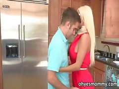 Teen Logan has threesome with stepmom
