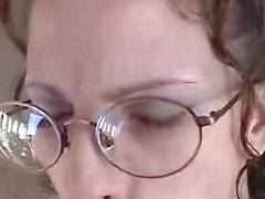 Amatuer Glasses Blowjob and Facial