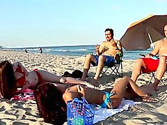 Beach Bait And Switch With Gina Valentina and Kobi Brian