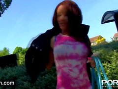 Ebony Milf Flashing in public