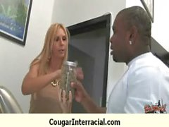 Interracial cougar hard sex 5