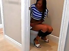 Black honey gets her pussy and mouth fucked hard