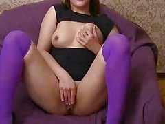 Facial and sex with finger in her ass