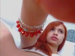 Teen Redhead Fingers Her Clit Until She Orgams