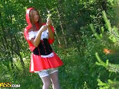 Little Red Riding Hood fucking with Panda in the wood