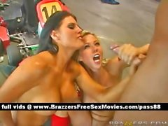Hot amazing blonde sluts at a car circuit get their pussy fucked