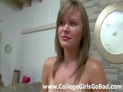 Amateur lesbian facesitting in sorority group initiation