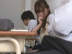 Blowjob Japanese amateur fingered then sucks dick