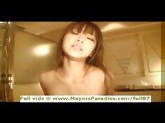 Miyu Sakura masum Çinli kız onu kedi becerdin alır
