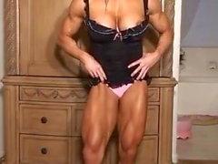 muscle goddess rides dildo