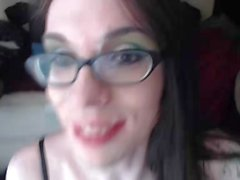Tgirl does a Self Facial
