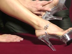 sexi TOES IN CLEAR PLATFORM HEELS