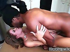 White girl fucks big cock and sucks