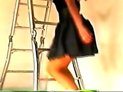 upskirts on the stairs 06