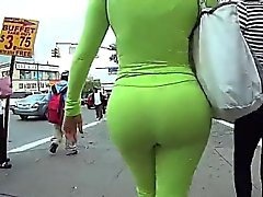 Spying On A Big Ass In Tight Spandex