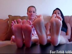 Stroke your cock to our perfectly pedicured feet