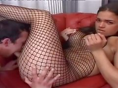 Yummy Tranny In Fishnet Gets Fucked In Mutual Scene