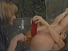 Tammi Ann loves insert dildos on Caressa