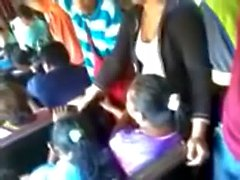 Encoxada horny Egyptian girl in bus