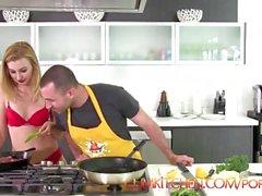 CUM KITCHEN: James Deen Fucks Blonde Alexa Grace while Cooking