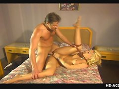 Holly loves the neck brace doggy style fuck session