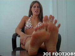 Your hard cock feels so good against my soft feet JOI