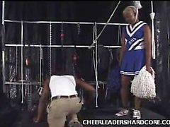Ebony Cheerleader Aliya Cock Crammed