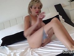Unfaithful english mature lady sonia shows her huge hooters