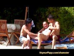 voyeur papy in a widl teen orgy